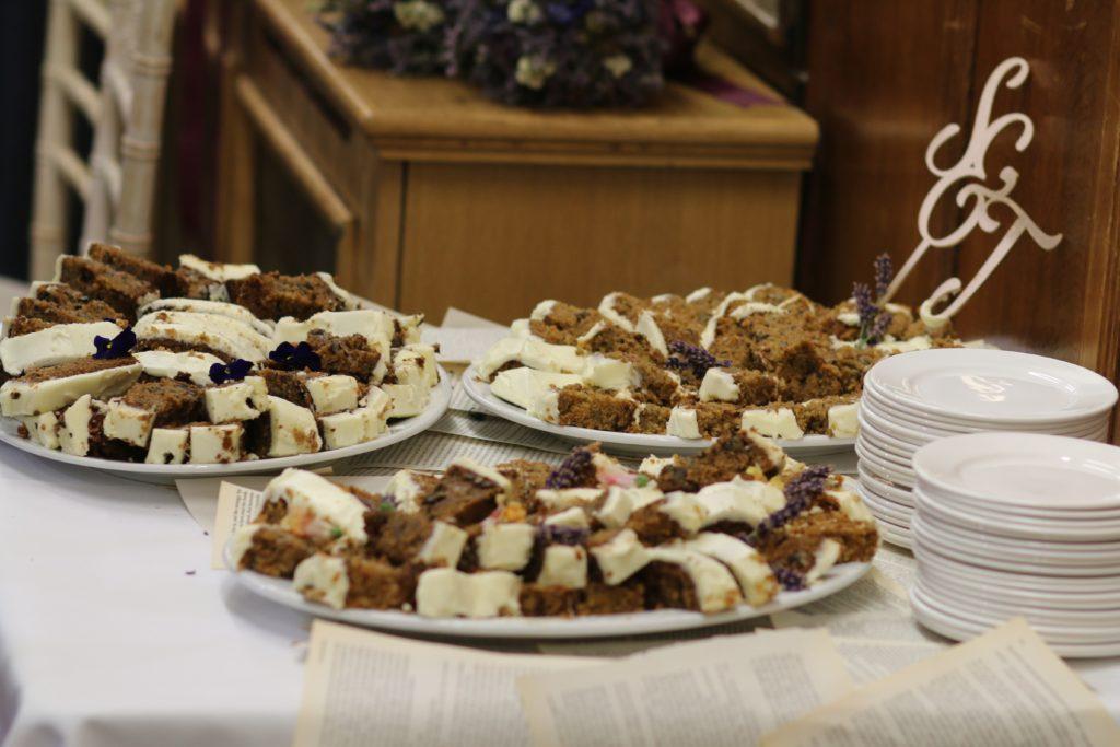 cupcakes on white ceramic tray