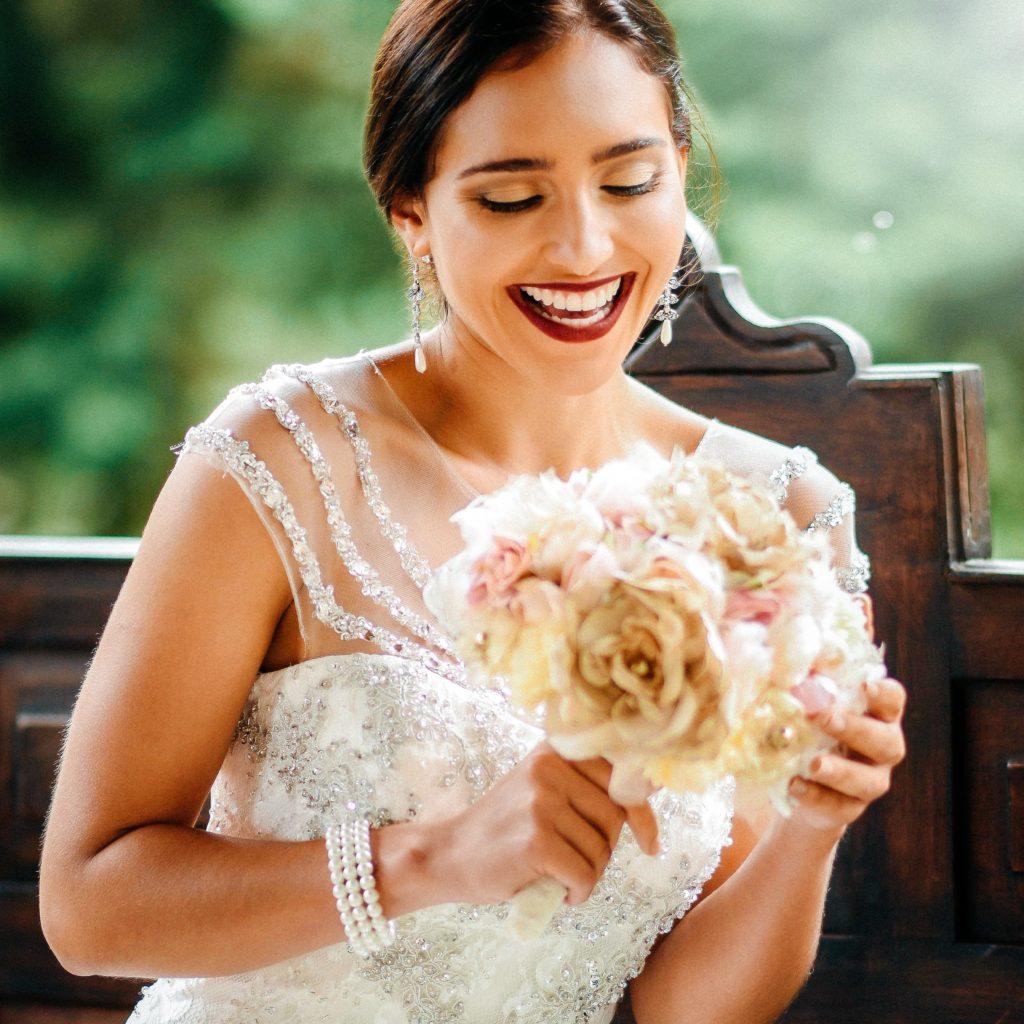 Bridal Beauty Smiling Bouquet by Lucia Echeverria